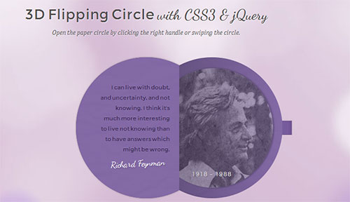 3D Flipping Circle with CSS3 and jQuery