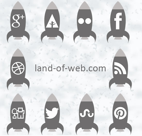 Rocket Social Icons preview