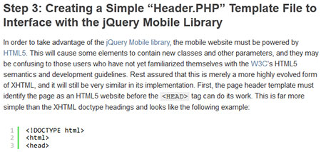 Creating a Mobile WordPress Theme with the jQuery Mobile Library