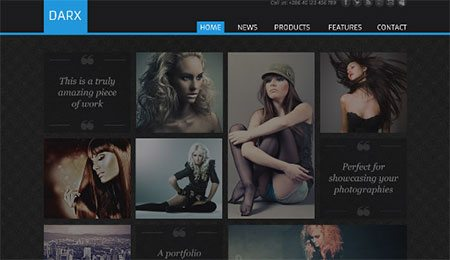 Darx - a creative portfolio template