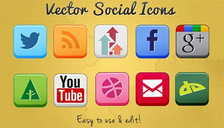 Vector Social Icons Set for Designers