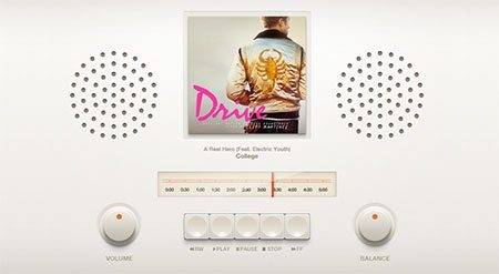 Retro Music Player UI