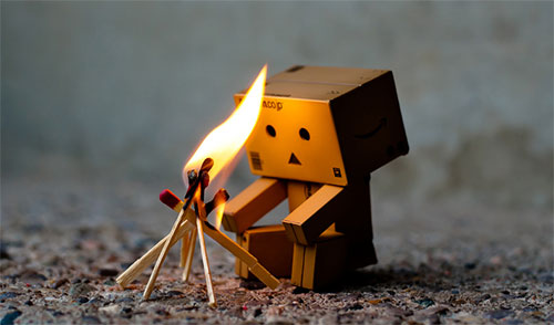 Danbo warms up by Matthew Huie
