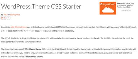 WordPress Theme CSS Starter