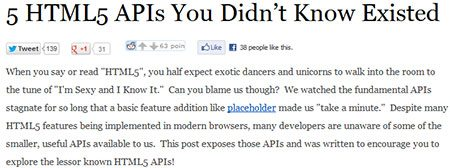 5 HTML5 APIs You Didn't Know Existed