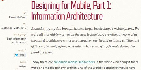Designing for Mobile, Part 1: Information Architecture