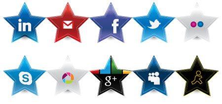 Star Social Media Icons