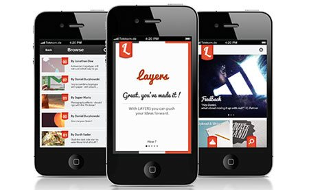 Layers iPhone App Interface
