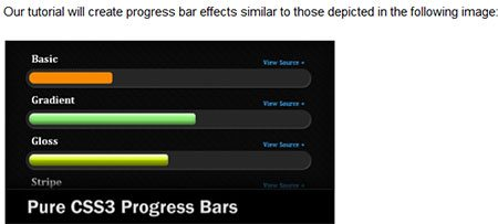 Create Your Own CSS3 Progress Bars