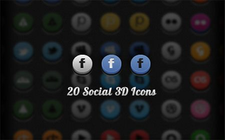 Social 3D Icons by Rafal Lach
