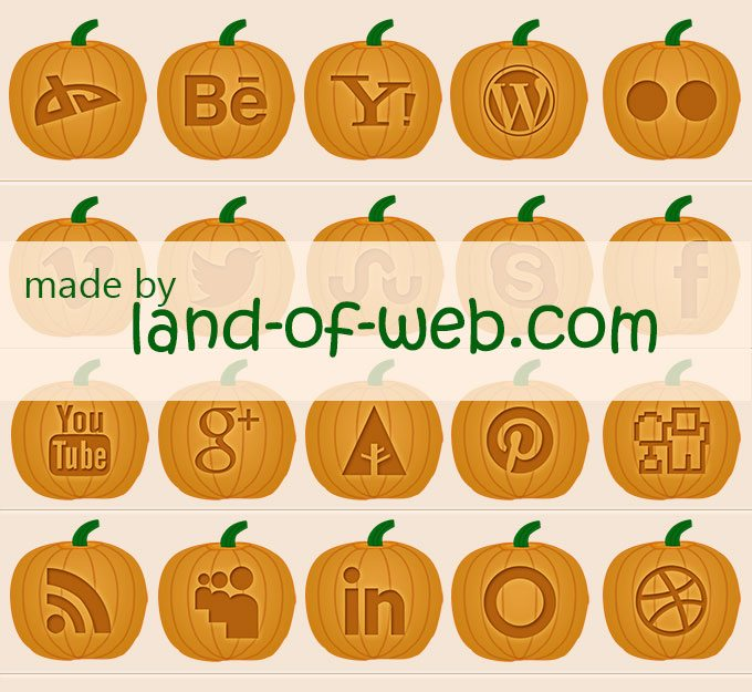 Pumpkin Social Icons preview