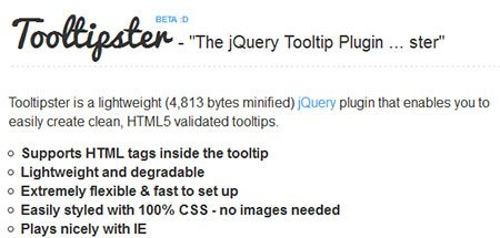 Tooltipster Beta - The jQuery Tooltip Plugin