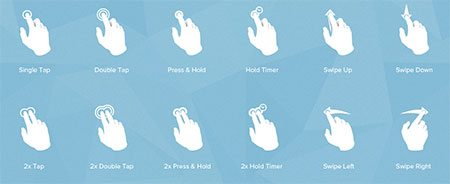 Touch Gesture Icons. Designed for Multi-Touch Devices