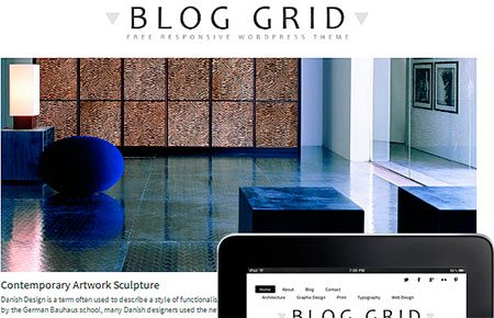 Blog Grid Theme Responsive