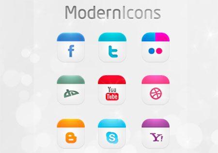 Modern Icons Set by dsquaredgfx