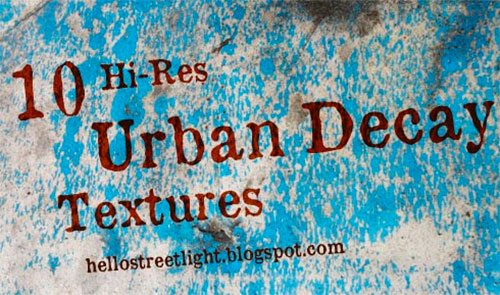 10 Hi-Res Urban Decay Textures by patsulok