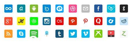 Social Retina Icon Pack