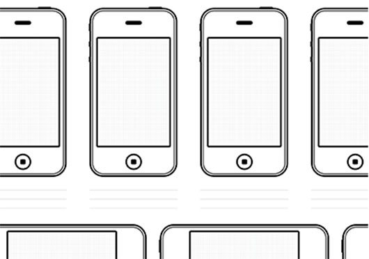 Iphone4 Drawing Template Freebie by Chris Allen