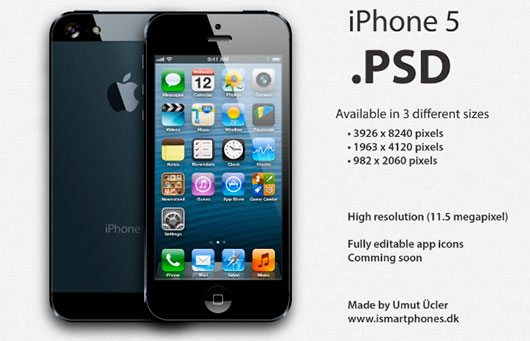 The new iPhone 5 PSD