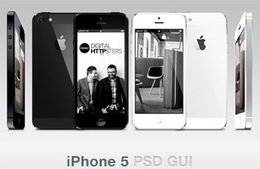 iPhone 5 GUI Vector PSD by James Noble
