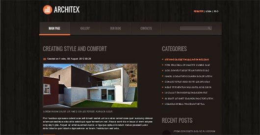 Solid Joomla Foundation for Architecture Site