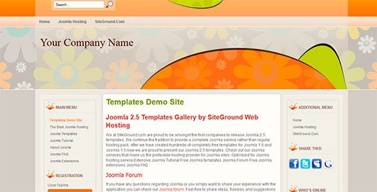 Happy Flowers is a free Joomla 2.5 template