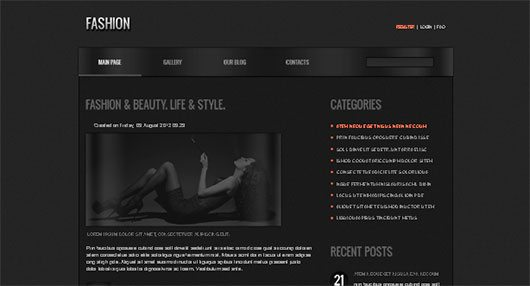 Joomla Fashion Template