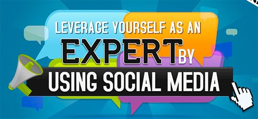 Leverage yourself as an expert by using social media