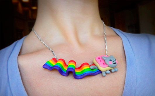 Nyan Cat Necklace Internet Meme