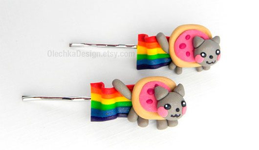 Nyan Cat Bobby Pin