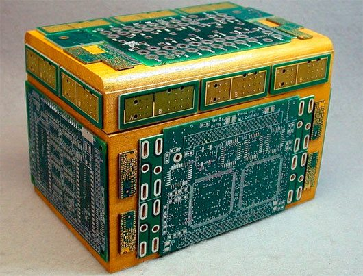 Recyced CIRCUIT BOARD Vintage Wood