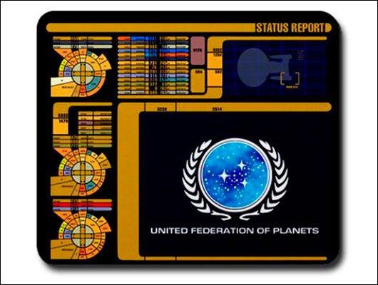 Star Trek inspired mousepad