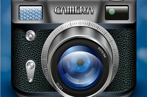 How to Create a Vintage Photo Camera icon for App Store