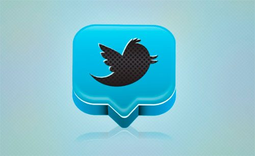 Create a Professional 3D Twitter Icon