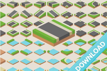 Isometric tiles by Kenney Vleugels
