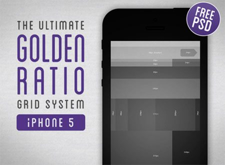 Golden Ratio Grid System for iPhone 5 by Tom Reinert