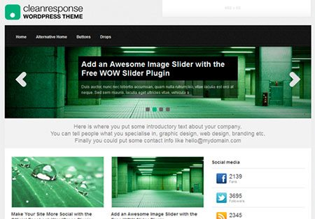 Clean Response WordPress Theme