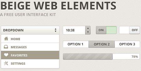 Beige Web Elements