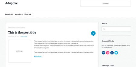 Adaptive Blog Theme: Initial HTML Markup