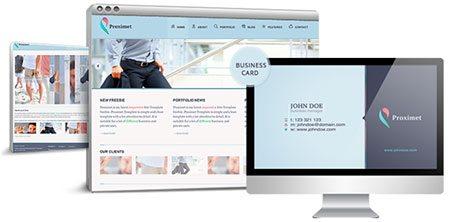Proximet Responsive Site Template + Card