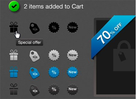Shopping UI elements by Alexandre Protikhin