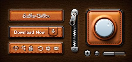 Leather UI Elements