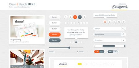 Clean and Usable UI Kit
