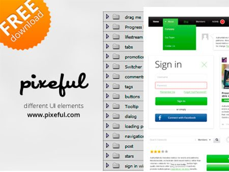 Pixeful UI Green Elements Pack by Alex