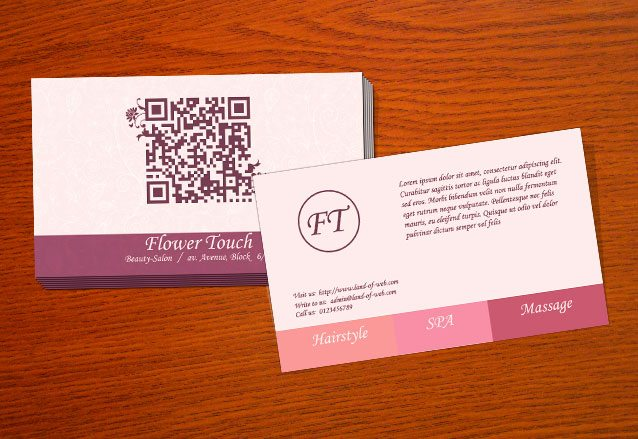 Freebie Beauty Salon Business Card PSD Template