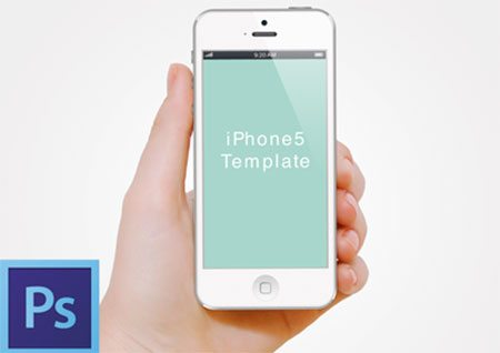 Hand with iPhone5 template psd by Randyj.Lee