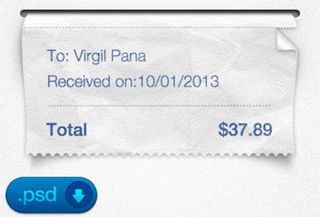 Receipt PSD by Virgil Pana