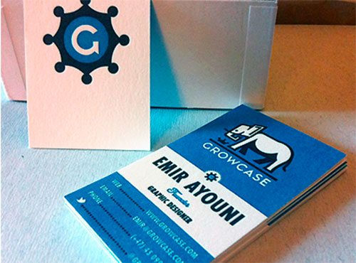 New Growcase Business Cards by Emir Ayouni