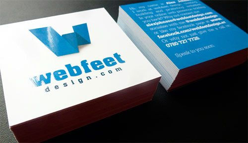 Webfeet Design Business Cards