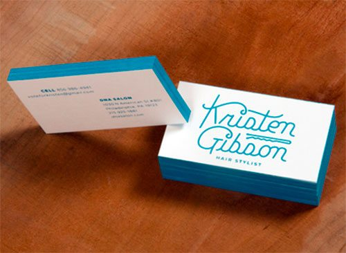 Screen Printed Business Cards by John Kane Smith
